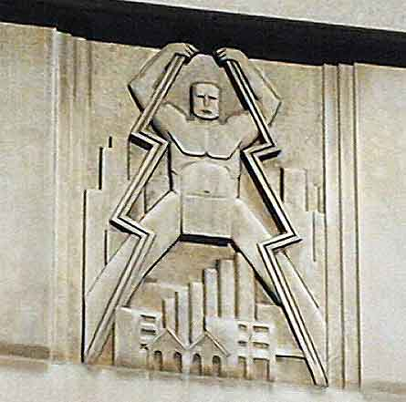 deco power bas relief